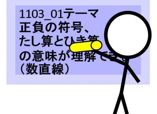 数学動画教材1103_01「テーマ:正負の符号、たし算とひき算の意味が理解できる(数直線)」について